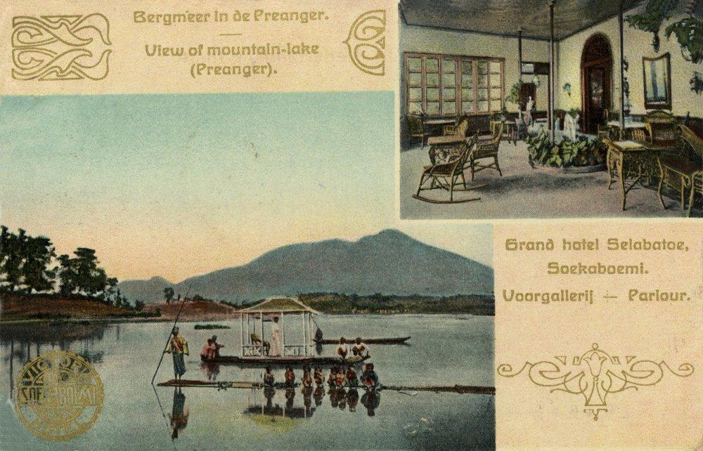Brosur promosi wisata Sukabumi era penjajahan Belanda