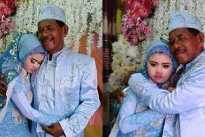 Heboh foto seorang kakek nikahi gadis muda, cinta tak pandang usia