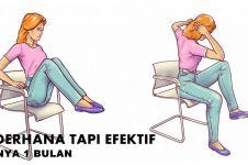 Tak perlu ke gym, 5 gerakan pakai kursi ini juga bisa kecilkan perutmu