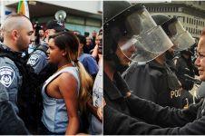 12 Aksi berani perempuan saat unjuk rasa, tak terlihat sosok lemah