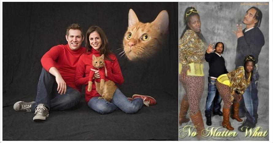 15 Gaya foto keluarga 'iyuh' ini bikin bertanya-tanya, kok gitu sih?
