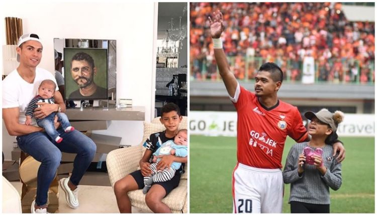 10 Kehangatan bintang sepak bola dengan anaknya, ini baru hot papa