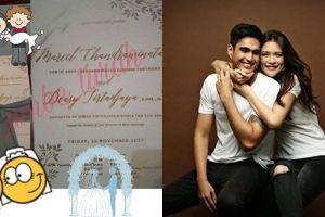 Beredar foto undangan pernikahan Marcel Chandrawinata dan Deasy