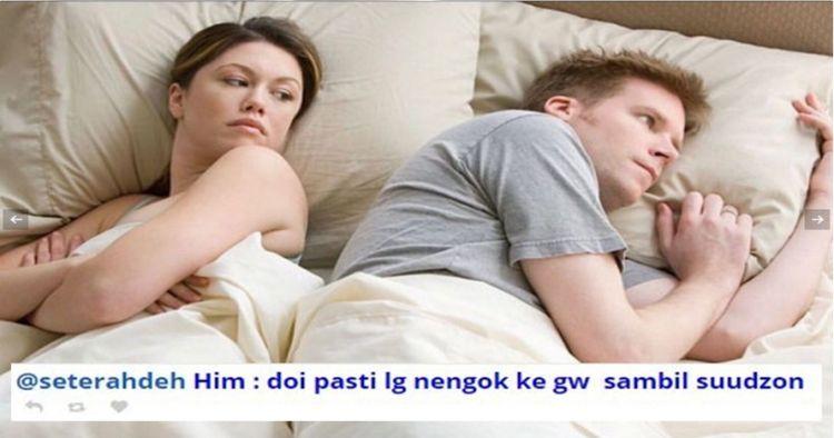 5 Imajinasi kocak warganet saat suami istri di atas ranjang
