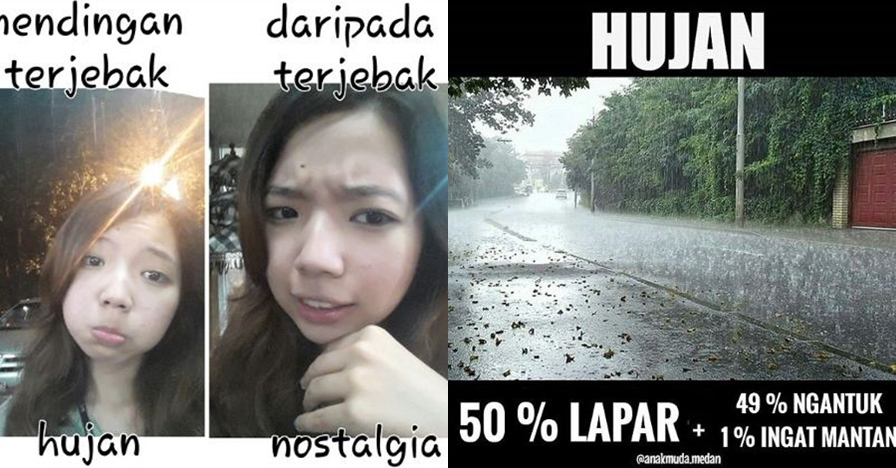 21 Meme hujan ini bikin kamu ketawa ngakak sambil perosotan