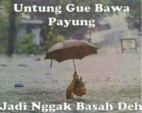 Meme Hujan  Brilio Net