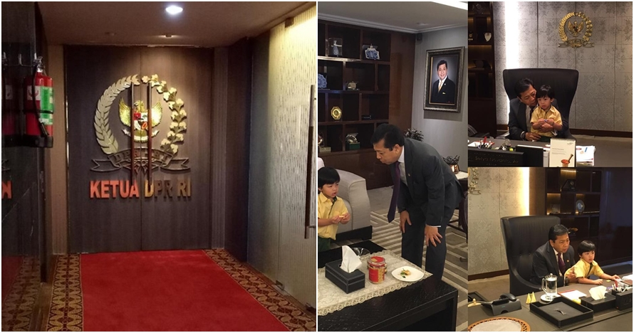 6 Foto suasana kantor pribadi Setya Novanto di DPR, isinya apa aja ya?