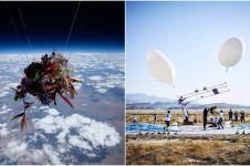 6 Penampakan saat bunga dikirim ke luar angkasa, bikin berdecak kagum