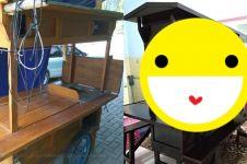 Gagal buka usaha, gerobak angkringan dijadikan kitchen set