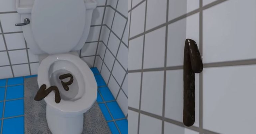 Game simulator kamar mandi ini aneh banget, kotoran bisa melayang