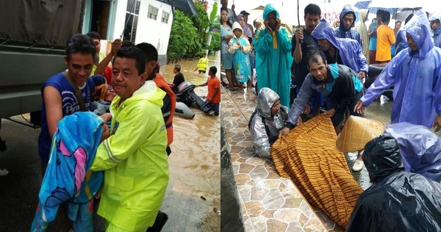 10 Potret evakuasi bencana banjir di Pacitan, semua bahu-membahu