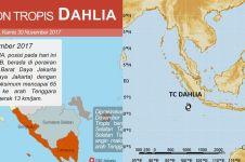 Kenapa siklon tropis dinamai Dahlia & Cempaka? Ini penjelasannya