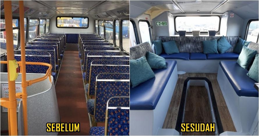 Bus tingkat direnovasi jadi rumah tunawisma, hasilnya keren abis