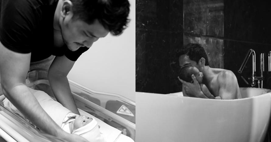 7 Seleb ganteng ini jago mandiin anaknya yang baru lahir, papa idaman