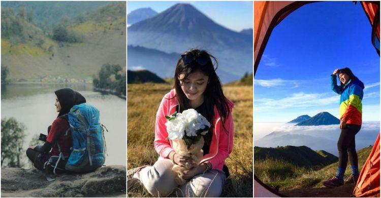 15 potret pendaki cantik di atas gunung bukti wanita itu perkasa