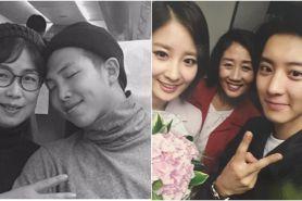 Potret kedekatan 7 idol K-Pop cowok dengan ibunya ini bikin baper