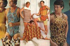 13 Iklan fashion cowok 70-an ini meriah banget, posenya bikin geli