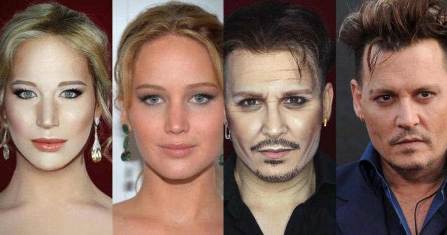Cowok ini bisa ubah wajahnya jadi 10 artis, jago banget makeupnya