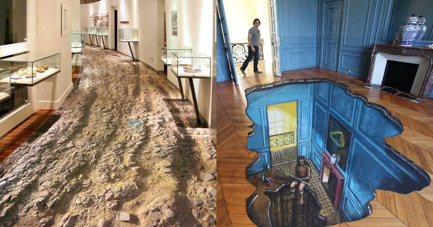 10 Desain lantai 3D ini dijamin bikin betah di rumah, keren banget