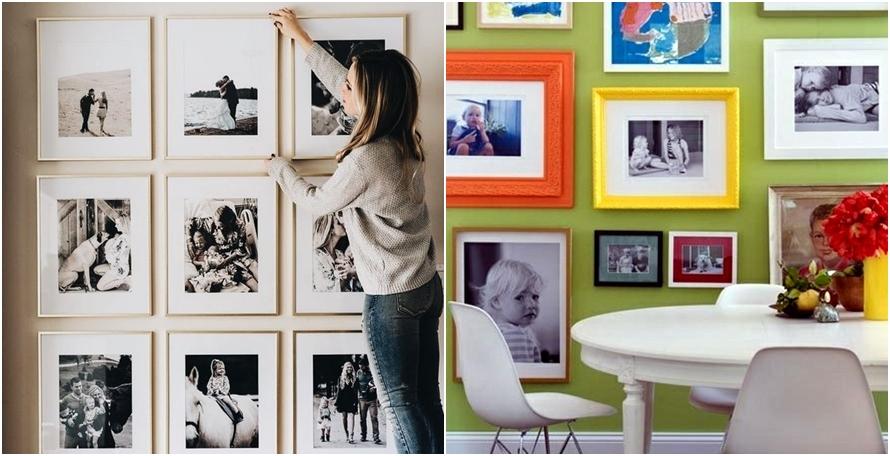 10 Ide Dekorasi Dinding Rumah Pakai Foto Kece Abis