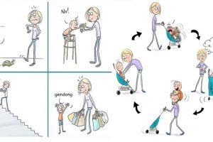 10 Komik membesarkan anak gambarkan repotnya jadi orangtua