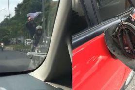 Heboh, iring-iringan pengantar jenazah lawan arus dan rusak mobil
