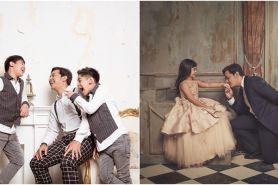 9 Caption kocak Andre Taulany di foto keluarganya ini gagal so sweet