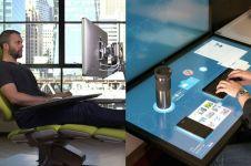 10 Desain meja kerja ini keren banget, bikin betah di depan komputer