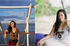 10 Gaya Wulan Guritno liburan di pantai, bukti hot mom sejati