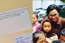 Kisah 10 surat pelajar untuk Sri Mulyani, ada yang minta 1 kg emas