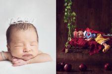 15 Foto pemotretan 'newborn' anak seleb ini bukti gedenya calon model
