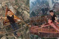 10 Aksi ekstrem Arief saat di ketinggian, Yong Ning asal Indonesia