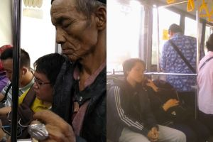 10 Potret penumpang umum duduk di kursi prioritas, nggak peka banget