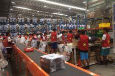 Potret kesibukan gudang e-commerce saat Harbolnas