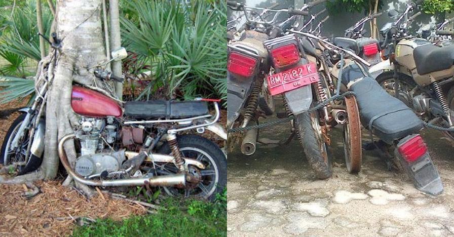 12 Foto sepeda motor tak terawat ini bikin senyum sambil ngelus dada