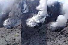 Aksi pria rekam puncak Gunung Agung dari dekat ini bikin geleng-geleng