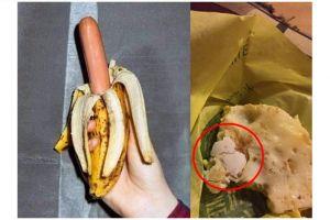 11 Kejanggalan pada makanan ini bikin selera hilang, ada pisang sosis