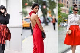 9 Trik padu padan outfit merah untuk meriahkan malam Natal