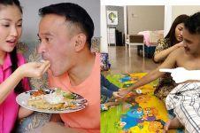 5 Momen Sarwendah telaten melayani Ruben Onsu, pasangan yang romantis