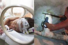 Tega, ibu ini buang bayinya di saluran pipa toilet