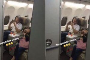 Posisi tidur Ayu Ting Ting di pesawat bareng Raffi tuai kontroversi