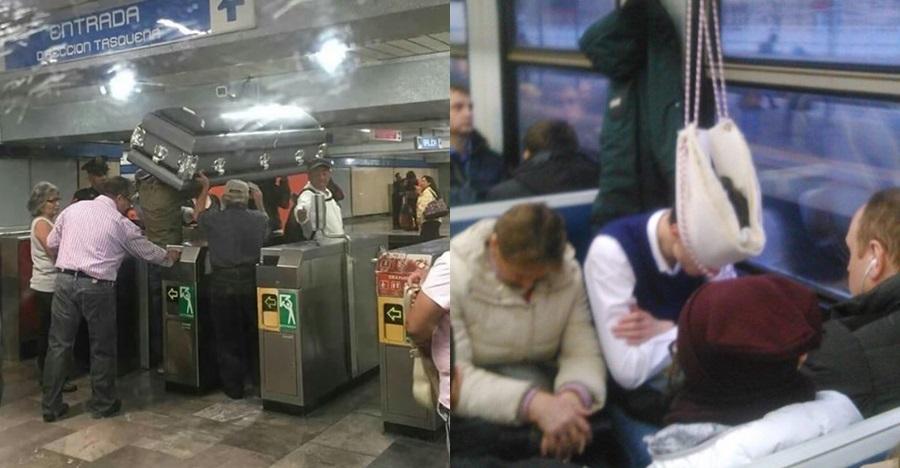 10 Kelakuan absurd penumpang di kereta, ada yang bawa masuk mobil