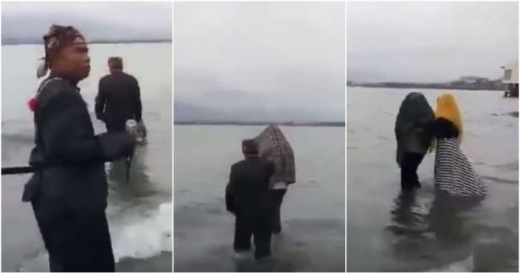 Viral video pasangan selingkuh direndam di laut, hukuman adat di Palu