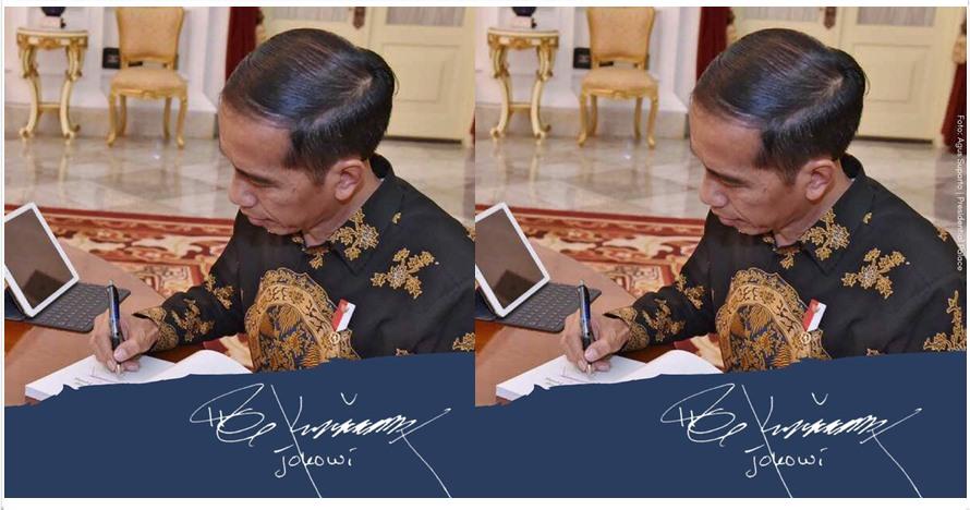 Jokowi ungkap 4 angka rahasia di tanda tangannya, kamu bisa temukan?