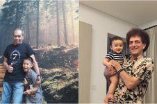 Gaya personel God Bless saat momong cucu, aura rockernya tak hilang