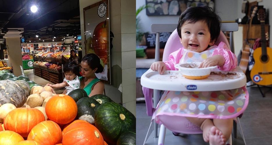 Ini momen manis hari pertama MPASI Salma, anak Rio Dewanto & Atiqah