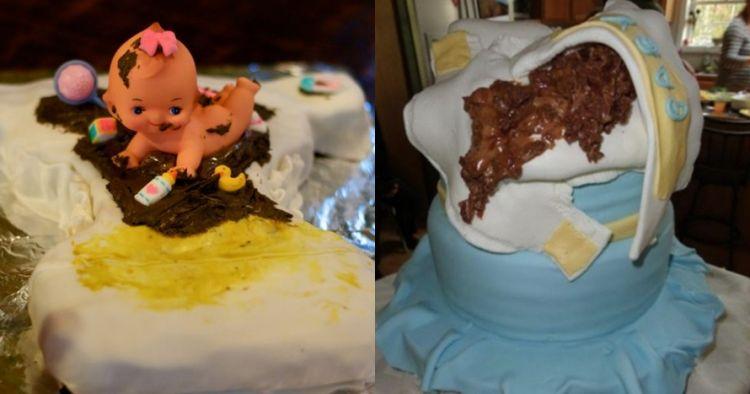 10 Kue unik berbentuk popok tapi penuh kotoran, iyuh banget nggak sih?