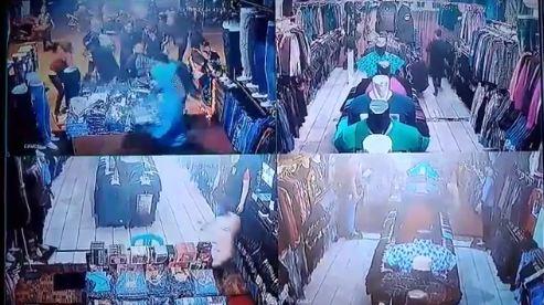 Rekaman CCTV saat perampok menjarah toko baju di Depok, nekat