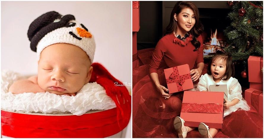 10 Gaya anak seleb saat ikut meriahkan natal, imutnya menggemaskan