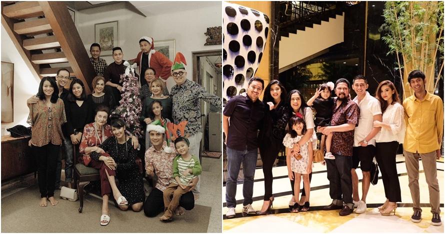 Potret harmonis 5 keluarga seleb beda agama saat perayaan Natal